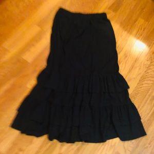 Girl's/tween's long ruffled maxi skirt